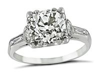 1930's 1.72ct Diamond Engagement Ring