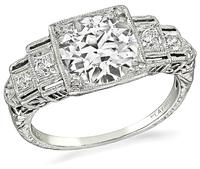 Art Deco 1.99ct Diamond Engagement Ring - price $14,500