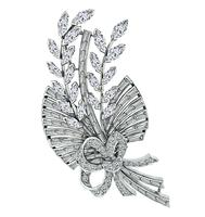 Vintage 3.50ct Diamond Bouquet Pin