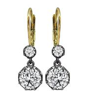 Vintage 2.12ct Diamond Earrings