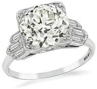 Art Deco 3.03ct Diamond Engagement Ring
