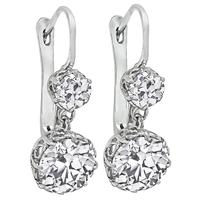Vintage 4.42ct Diamond Earrings