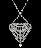 Vintage 3.00ct Diamond Pearl Necklace