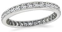 Vintage 1.25ct Diamond Eternity Wedding Band