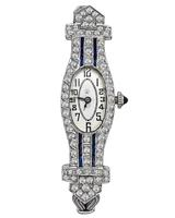 Vintage Goering Swiss 2.00ct Diamond Sapphire Watch