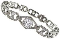 Estate 2.35ct Center Diamond 3.00ct Side Diamond Bracelet