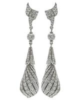 Vintage 6.00ct Diamond Drop Earrings
