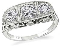 Vintage 1.00ct Diamond Anniversary Ring