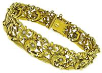 Vintage 0.40ct Diamond Gold Bracelet