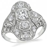 Art Deco 1.25ct Diamond Ring