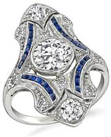 Vintage 1.00ct Diamond Sapphire Ring - price $6,500