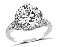 Estate GIA Certified 4.20ct Diamond Engagement Ring
