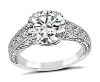 GIA Certified 2.04ct Diamond Edwardian Engagement Ring