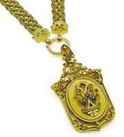 Victorian Gold Locket Pendant Necklace