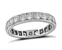 Vintage 4.90ct Diamond Eternity Wedding Band