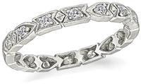 Antique Diamond Platinum Eternity Wedding Band