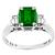 0.95ct Colombian Emerald Diamond Platinum Ring | Israel Rose