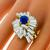 2.50ct Sapphire 4.00ct Diamond Gold Ring  | Israel Rose