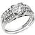 Vintage 1930s 0.70ct Old European Brilliant Diamond Platinum Engagement And Diamond Wedding Band Set