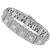 Estate 3.00ct Baguette And 5.40ct Round Diamond 18k White Gold Bracelet