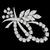 Estate 1950s 4.00ct  Round Marquise and Baguette Cut Diamond Platinum  Floral Pin