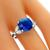 Estate 4.06ct Sapphire 0.45ct Diamond Gold Ring | Israel Rose