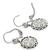 4.54ct Cushion Center And 0.76ct Faceted Sapphire 1.04ct Round Cut Diamond 18k White Gold Drop Earrings