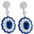 Estate 4.97ct Sapphire 3.52ct Diamond Gold Earrings