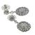 Sapphire Diamond 18k White Gold Drop Earrings
