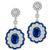Estate 4.97ct Sapphire 3.52ct Diamond Gold Earrings  | Israel Rose