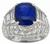 5.36ct ceylon sapphire 2.40ct diamond gold ring photo 3