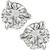 14k white gold push back diamond studs earrings 1