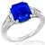Estate 4.08ct Sapphire 0.80ct Diamond Platinum Ring