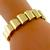 Estate 1940s 18K Yellow Gold Geometric Bracelet