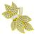 Estate 1960s 6.00ct Round And Baguette Cut Diamond 18k Yellow Gold Bow Pin/ Pendant