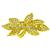 6.00ct Round And Baguette Cut Diamond 18k Yellow Gold Bow Pin/ Pendant