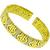 Bvlgari Style 1.00ct Round Cut Diamond 18k Yellow Gold Cuff Bangle