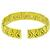 1.00ct Round Cut Diamond 18k Yellow Gold Cuff Bangle