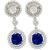 Estate 3.94ct Sapphire 2.26ct Diamond Gold Earrings