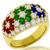 1.44ct Diamond Emerald Ruby Sapphire Gold Ring