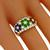 Estate 1.44ct Round Diamond 0.43ct Emerald 0.45ct Ruby 0.46ct Sapphire 18k Yellow Gold Ring