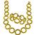Gold Hollow Circle Chain Necklace And Bracelet Set