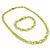 Estate 1.50ct Round Cut Diamond 18k Yellow & White Gold Infinity Link Necklace And Bracelet Set