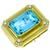 25.00ct Aquamarine 0.50ct Diamond Gold Pin/Pendant  | Israel Rose