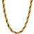 Pearl And Coral Bead Gold Twist Necklace