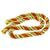 Pearl And Coral Bead 14k Yellow Gold French Twist Rope Necklace