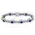 4.50ct Sapphire 4.00ct Diamond Gold Bracelet | Israel Rose
