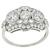 Antique Art Deco 1.00ct Round And Old Mine Brilliant Diamond Platinum  Anniversary Ring