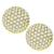 Estate 6.60ct Round Brilliant Diamond 18k Yellow Gold Button Earrings