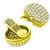 6.60ct Round Brilliant Diamond Gold Button Earrings